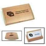 Custom Maple Business Card Case