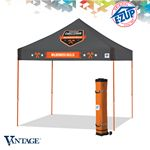 Custom Vantage 10' x 10' Multi Color Print Tent w/ Steel Frame