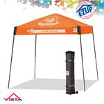 Custom Vista 10' x 10' Fusion Color Imprint Tent w/ Steel Frame