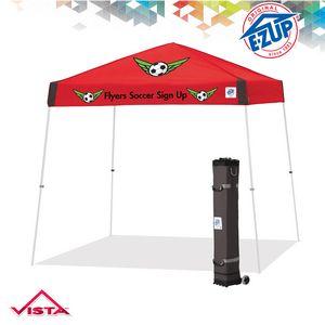 Vista 10 x 10 Multi Color Print Tent w/ Steel Frame