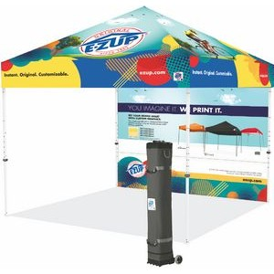Vantage™ 10' x 10' Full-Bleed Digital Print Tent w/ Steel Frame and Sidewall