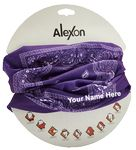 Custom Fashion Seamless Bandana - Purple