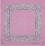 Custom Pink Fashion Bandana with Custom Imprint