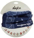 Custom Fashion Seamless Bandana - Navy