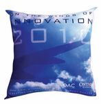 Custom Dye Sublimated 18 x 18 Polyester Throw Pillow