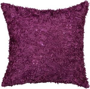 Floral Sequin Throw Pillow