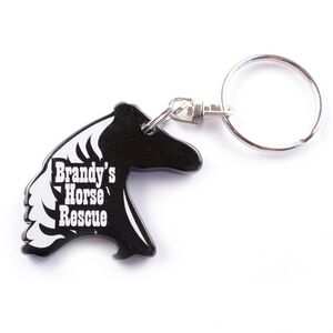 horse head key chain bottle opener 9180 ideastage promotional products. Black Bedroom Furniture Sets. Home Design Ideas