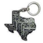 Custom Texas Key Chain w/Bottle Opener