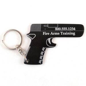 gun key chain bottle opener 9130 ideastage promotional products. Black Bedroom Furniture Sets. Home Design Ideas