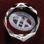 Custom Crystal Faceted Octagon Award (3