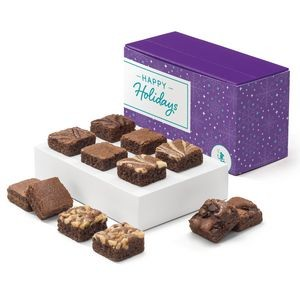 Holiday Morsel Dozen in Purple Box w/ Happy Holidays Band