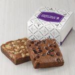 Custom Fairytale Brownies 2-Brownie Favor (White/ Purple Box)
