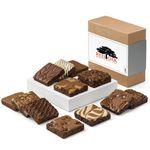 Custom Fairytale Brownies Custom Dozen Gift Box (Brown/ White)