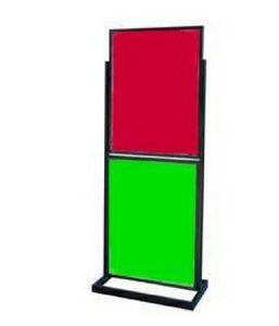 Floor Standing Poster Holder w/2 Poster Frames 22x28