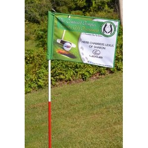 Windless Double Sided Golf Pin Flag
