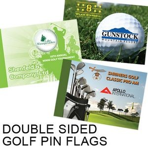 Double Sided Pin Flag