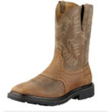 Ariat® Men's Sierra Wide Square Toe Boots (Aged Bark)
