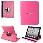 Custom Ipad 360 Case, Faux, Dark Pink