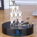 Custom Magnetic Sculpture Desk Toy- 13 Small People & 8 Metal Bars