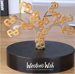 Custom Magnetic Sculpture Desk Toy- 12 Small Dollars Signs & One Tree