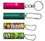 Custom Cylinder Shape Projection Key Chain - Color Projection Image