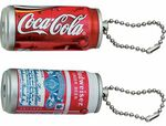 Custom Beverage Can Projection Key Chain - Black & White Projection Image
