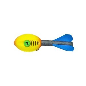 "6.29"" Screaming Football Rocket Flyer - With Whistle"