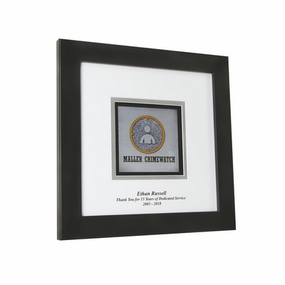 "Framed Plate Square Award 9""x9"""