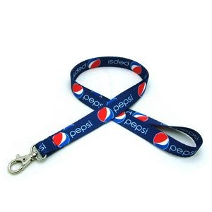 "1/2"" Digitally Sublimated Lanyard w/ Deluxe Swivel Hook"