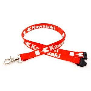"5/8"" Digitally Sublimated Lanyard w/ Sew on Breakaway"