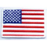 Custom American Flag Applique w/ White Border
