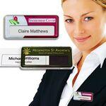 Custom Reusable Name Badge w/Personalization & Pin Fitting
