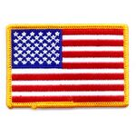 Custom American Flag Applique w/ Gold Border