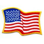 Custom Stock American Flag Emblem