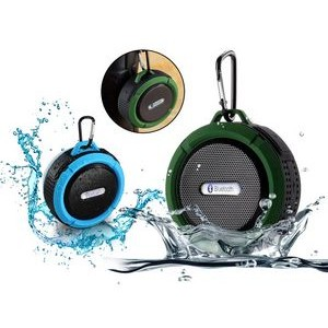 Splash Proof Bluetooth Speaker w/Hook