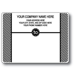 Standard Pin Fed Mailing Label w/Diagonal Stripe Side Borders