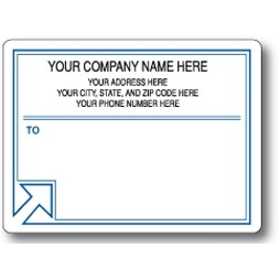 Standard Pin Fed Mailing Label w/Left Corner Arrow
