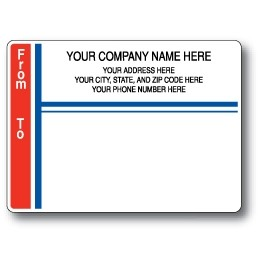 Standard Pin Fed Mailing Label w/From and To Left Border