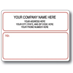Standard Pin Fed Mailing Label w/Narrow Border