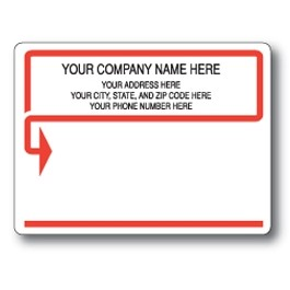 Standard Pin Fed Mailing Label w/Arrow Border