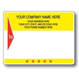 Standard Pin Fed Mailing Label w/Dual Wide Borders & To Arrow