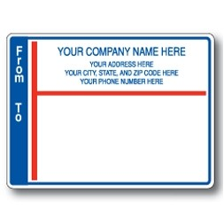 Standard Pin Fed Mailing Label w/Wide Left From-To Border