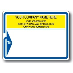 Standard Typewriter Mailing Label Roll w/Blue Arrow Border & To Detail