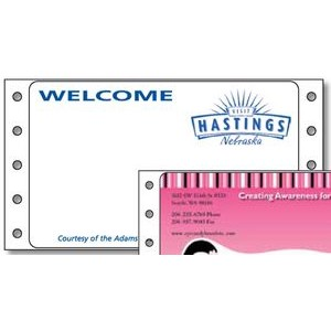 "Custom Spot Color Typewriter Mailing Labels on Roll (4""x2 7/16"")"