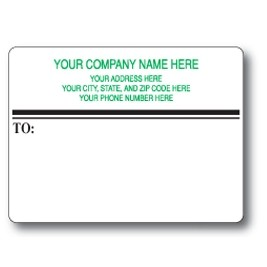 Standard Pin Fed Mailing Label w/Dual Dividing Lines