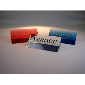 "Acrylic Triangle Wedge Point-of-Purchase Signage (2""x2""x7"")"