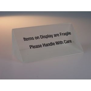 "Acrylic Triangle Wedge Point-of-Purchase Signage (1½""x1½""x6½"")"