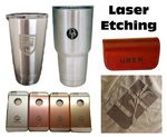 Custom Laser Etch Engrave Service, Decorating on Stainless Steel, Aluminum, Wood, Acrylic, Fabric, more