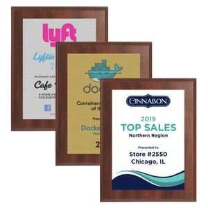 7 x 9 Cherry Finish Plaque w/ Full Color Sublimated Imprint
