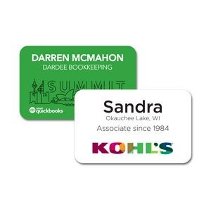 Name Badge w/Full Color Imprint & Personalization, Laminated